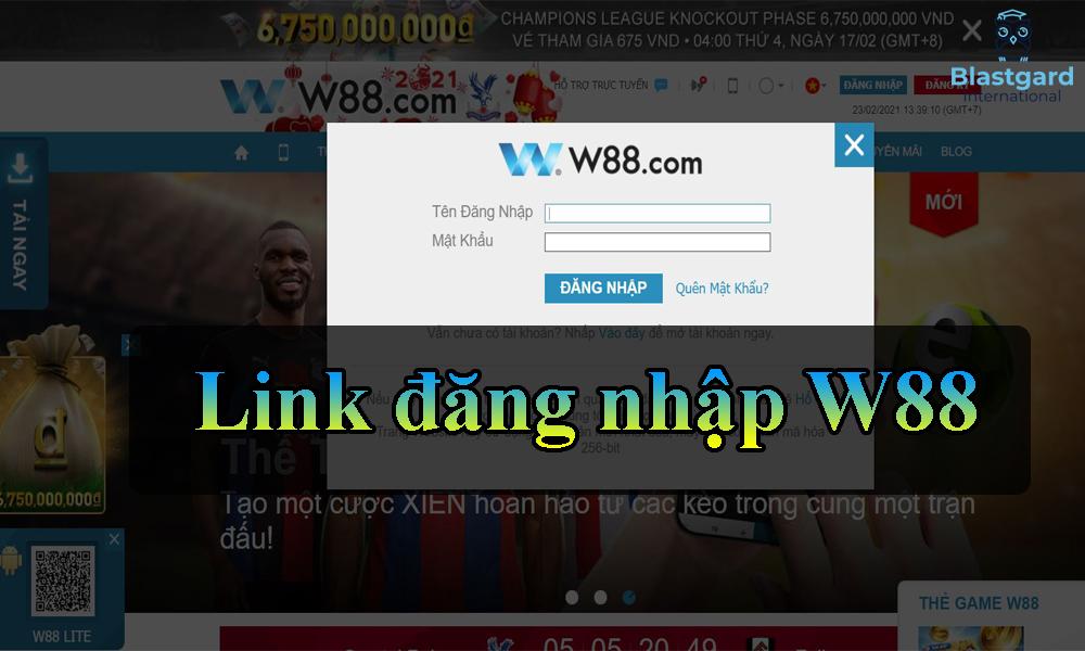 Link đăng nhập W88 không bị chặn