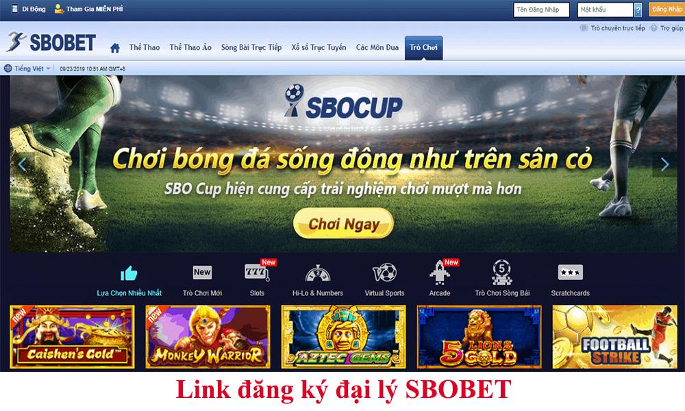 Link đăng ký đại lý SBOBET